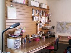 Lisa's school/craft/scrapbook room at The McClanahan 7. TOS Crew blogger.