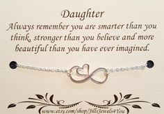 Daughter necklace, To Daughter from Mom, Daughter Inspirational Gift, Birthday gift for daughter, wedding gift for daughter, Graduation gift by JillsJewels4You on Etsy https://www.etsy.com/listing/385356920/daughter-necklace-to-daughter-from-mom