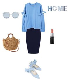 """Home"" by francystyling78 on Polyvore featuring moda, WearAll, MANGO, Delpozo, Muche Et Muchette, For Art's Sake e plus size clothing"