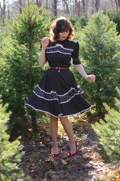 #blackdress #whitetrim #stylegallery