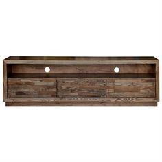 Hawthorn Solid American Oak Timber 3 Drawer 180cm TV Unit
