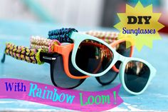 DIY Rainbow Loom Sunglasses and giveaway! Original concept