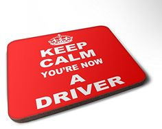 Keep Calm You're Now A Driver - Wood Coaster - High Gloss...…