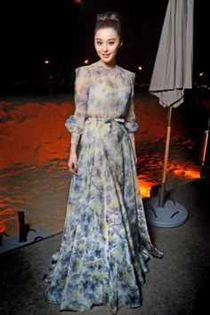 The 2012 Cannes Red Carpet  Fan Bingbing in Valentino couture at the L'Oreal Paris 15th Anniversary dinner.