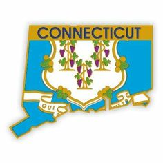Connecticut Pin . $3.95