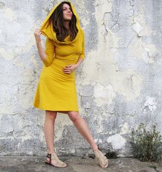 Super Cowl Stretchy Short Dress organic cotton by gaiaconceptions, $135.00