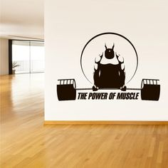 Wall Decal Vinyl Sticker Decals Gym Gymnastics Muscle Power Fitness Sport Man Rod Barbell (Z3115) StickersForLife http://www.amazon.com/dp/B00NY0705G/ref=cm_sw_r_pi_dp_l97fvb1MP90DC