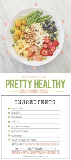 We absolutely love a good, healthy summer salad! Visit thebeautydepartment.com to learn about all the beauty benefits of each ingredient in this dish!
