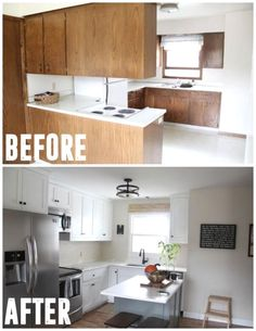 10 Simple and Impressive Ideas Can Change Your Life: Farmhouse Kitchen Remodel Chicken Wire small kitchen remodel vintage.Apartment Kitchen Remodel Sinks kitchen remodel on a budget flooring.U Shaped Kitchen Remodel Built Ins. Cheap Kitchen Remodel, Galley Kitchen Remodel, 1970s Kitchen Remodel, Home Staging, Home Renovation, Home Remodeling, Kitchen Remodeling, Remodeling Contractors, New Kitchen