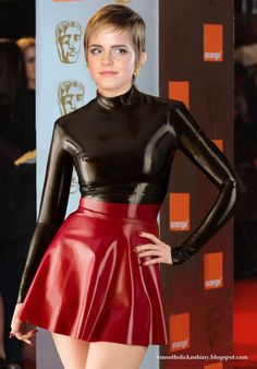 Emma watson in Black and red  latex by Andylatex.deviantart.com on @DeviantArt