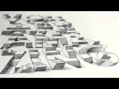 "3D typography Illusion - ""You Are Amazing"" // Lex Wilson"