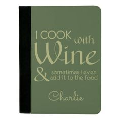 #customize - #Wine Quote custom name padfolio