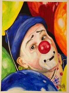 Giclee Print - Watercolor Clown #5 Sean Carlock Paper: Fine Art Paper or Canvas Giclee Print Size: 9 X 12 , 11 X 14, or 16 X 20 inches Frame: Unframed Signed on back and on comes with signed Certificate of Authenticity The paper upon which the ink was applied is fine art paper : acid free, lignin chlorine free, smudge resistant. Avoid touching the surface of the print. Required framing under glass. The print was matched to the original artwork in a collaborative effort betw...