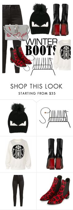 """""""winterboots #cooooollllddd"""" by celia-cattoir ❤ liked on Polyvore featuring Fendi, Vetements, Levi's, Topshop and Dolce&Gabbana"""