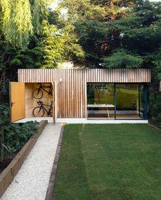 Backyard Office, Backyard Studio, Garden Studio, Garden Office, Outdoor Office, Outdoor Living, Backyard House, Outdoor Rooms, Arch House