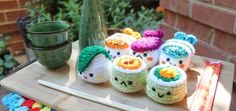 DeviantArt: More Like Fairy apple Amigurumi food by Amigurumifood Crochet Food, Crochet Crafts, Crochet Yarn, Knitting Yarn, Crochet Projects, Free Crochet, Crochet Things, Amigurumi Patterns, Amigurumi Doll