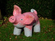 Pig made out of tiles