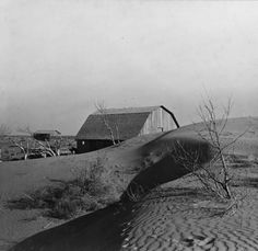 Drifts of sand near Liberal Kansas during the Dust Bowl