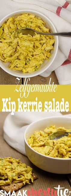 Kip kerrie salade #recept #recipe #lunch #brunch #salad