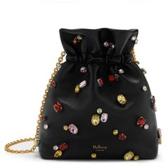 Mulberry Lynton Mini Bucket (€1.415) ❤ liked on Polyvore featuring bags, handbags, shoulder bags, bucket shoulder bag, leather bucket purse, leather handbags, genuine leather shoulder bag and chain strap purse