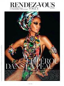 Latina Goddess: Joan Smalls for Vogue Paris April 2013 by Mario Testino Peru