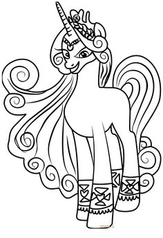 My Little Pony Girls Coloring Page My little pony