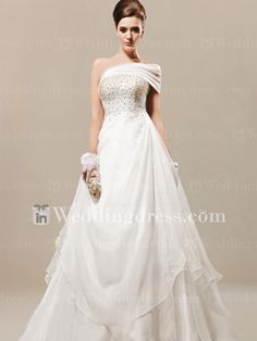 The Best Place To Buy Custom Tailored Beaded A Line Wedding Dresses For  Your Big