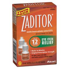 Triple-action, prescription-strength Zaditor quickly delivers up to 12 hours of eye itch relief, by attacking itchy eyes right at the source. Zaditor fights the allergens that cause itchy eyes using only an antihistamine to temporarily relieve itchy eyes. Sinus Medicine, Medicine Humor, Medicine Quotes, Prescription Eye Drops, Benzalkonium Chloride, Medicine Organization, Anti Itch Cream, Home Spa Treatments, Itch Relief