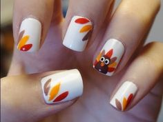 Easy Thanksgiving Turkey Nails!!!