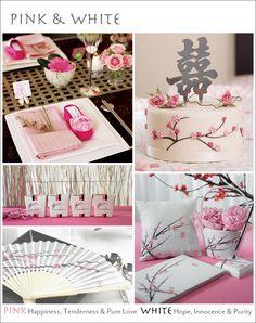 A Pink & White Cherry Blossom Wedding Theme