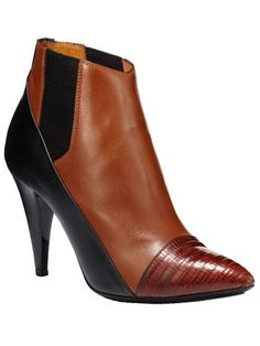 Balenciaga black and brown bootie // The Extras: Natural Beauties & In the Buff