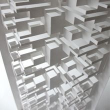 I like the 3D feature of this piece pf art, the lines that are created make it visually appealing and very interesting.