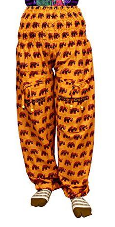 Krishna Mart Cotton Elephant Genie Harem Pants Boho Gypsy Trousers India Krishna Mart India http://www.amazon.com/dp/B00T7DZ1AK/ref=cm_sw_r_pi_dp_bmWzvb0AS17TA