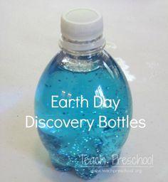 Earth Day Discovery Bottles by Teach Preschool