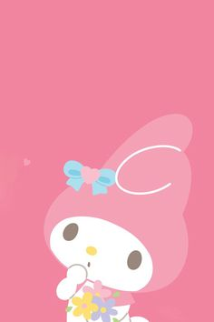 My Melody with a butterfly Sanrio Wallpaper, My Melody Wallpaper, Hello Kitty Wallpaper, Kawaii Wallpaper, Disney Wallpaper, Cartoon Wallpaper, Sanrio Hello Kitty, Hello Kitty My Melody, Little Twin Stars