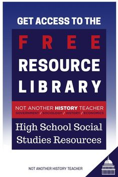 Are you a high school social studies teacher? You need to sign up for the Not Another History Teacher Club to get FREE social studies resources, including ready-to-go lesson plans! Click to sign up today and make your teaching life a little EASIER this year! #notanotherhistoryteacher #highschool #socialstudies
