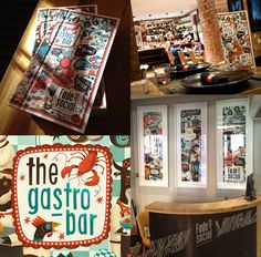 Diseño de cartas de restaurante:  The Gastro Bar