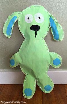 Bunny art projects - Knuffle Bunny Art Project for Kids – Bunny art projects Animal Art Projects, Easy Art Projects, Projects For Kids, Art Wall Kids, Art For Kids, Art Children, Knuffle Bunny, Lapin Art, Classe D'art