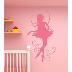 """Style and Apply Fairy Dancer Wall Decal Color: Golden Yellow, Size: 51"""" H x 33"""" W"""