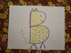 Use initial from your name to make an animal. Fun art project!