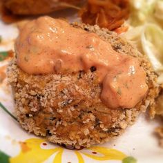 "Vegan jackfruit ""crab"" cake http://sproutnewroots.wordpress.com/2012/08/14/our-1-year-veganniversary/#"