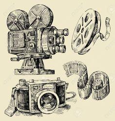 drawing old camera - Hledat Googlem