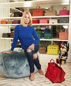 Caroline Stanbury spent £100k on handbags and built shrine to worship them in | Daily Mail Online