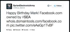 The Syrian Electronic Army could access the registrar domain administrator account of Facebook.com and make changes on the information.