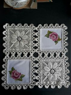 How to Crochet a Solid Granny Square Filet Crochet, Beau Crochet, Crochet Motifs, Crochet Fabric, Crochet Quilt, Crochet Blocks, Crochet Squares, Crochet Home, Thread Crochet