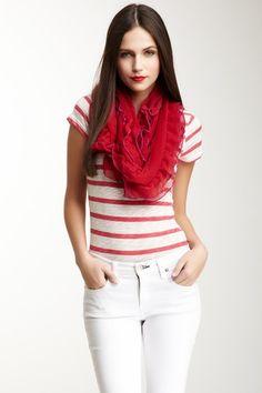 Scarlet scarves.