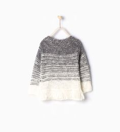 Image 2 of Fringed faux fur knit sweater from Zara