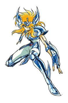 Reproduction vectorielle d'un artwork du manga Saint Seiya, les Chevaliers du Zodiaque.