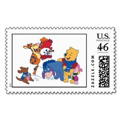 Winnie  the Pooh and Friends Postage Stamps