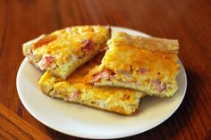 Yummy..Easy..People Love It Egg Bake:  In 13x9 or bigger greased pan..lay out Pillsbury pie crust or Cresent roll dough( which is sweeter)..then diced ham or browned Jimmy Dean sausage...in bowl mix 12 eggs and milk..pour over meat..sprinkle pepper over eggs..sprinkle 4 cups of cheese over eggs(I get mixed cheese)..enough to cover it all pretty good..bake at 350 star at 30 minutes and keep checking till eggs are firm...waalaa